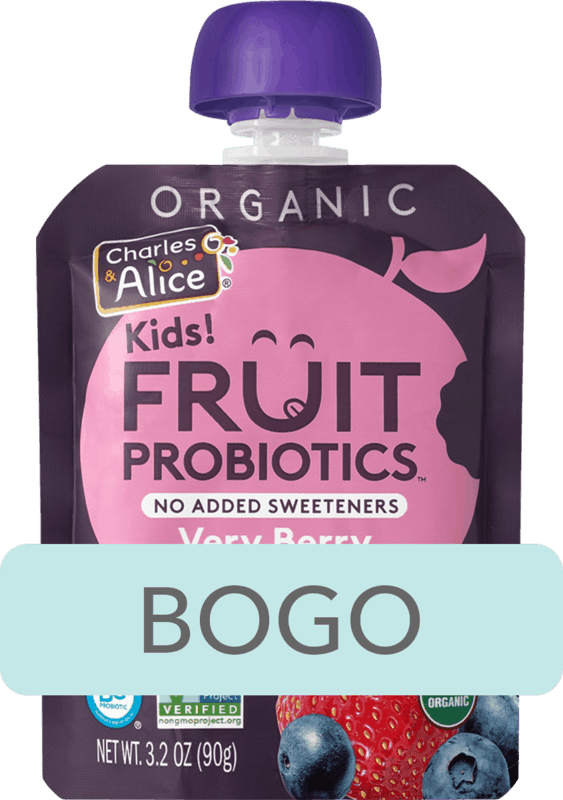 $1.24 for Charles & Alice Kids! Fruit Probiotics™. Offer available at Walmart.