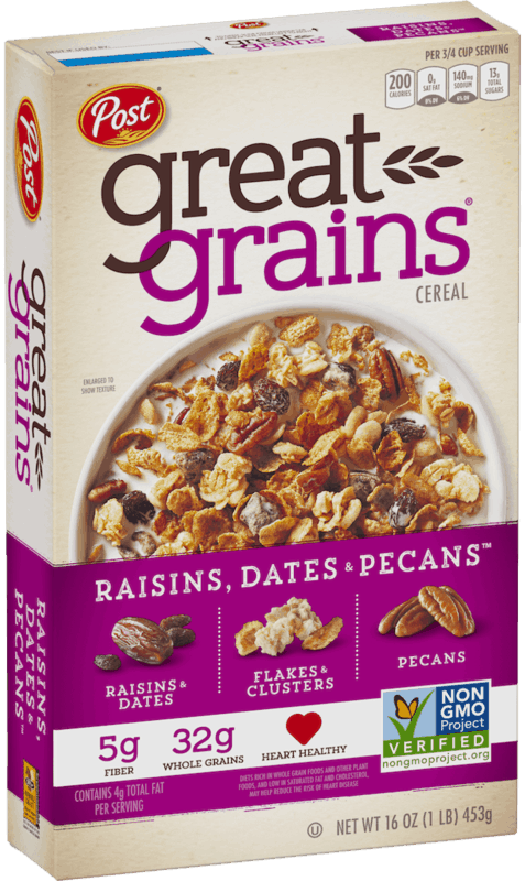 $0.50 for Post Great Grains (expiring on Sunday, 08/02/2020). Offer available at multiple stores.