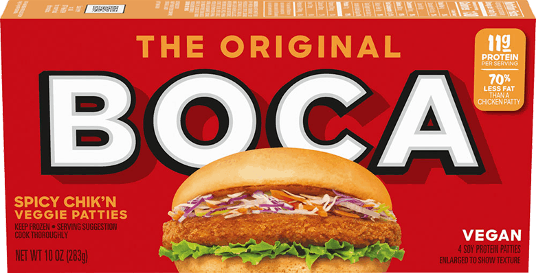 $1.00 for BOCA Chik'n Patties (expiring on Sunday, 08/02/2020). Offer available at multiple stores.