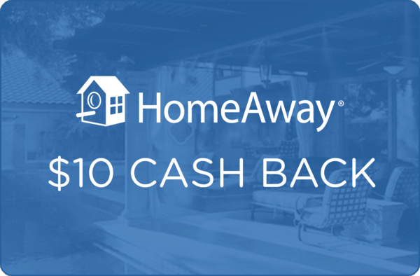 $10.00 for HomeAway (expiring on Wednesday, 02/28/2018). Offer available at HomeAway.