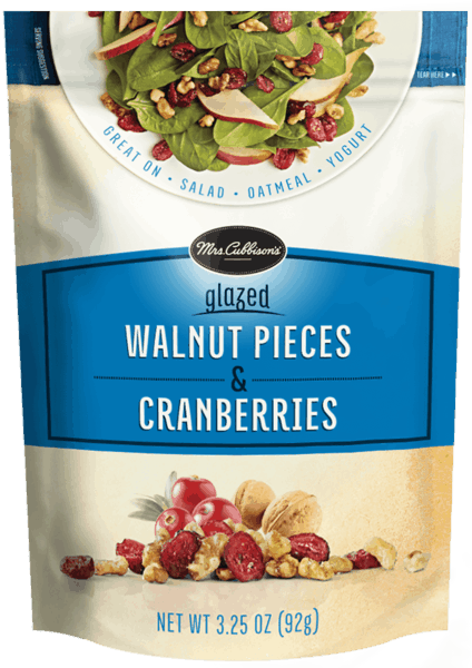 $0.25 for Mrs. Cubbison's® Fruit and Nut Toppings (expiring on Monday, 04/30/2018). Offer available at multiple stores.