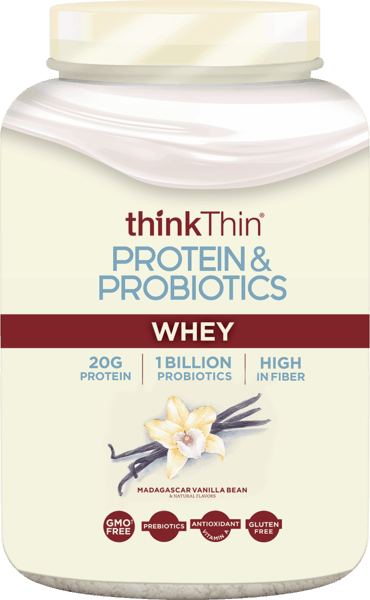 $5.00 for thinkThin® Protein & Probiotics Powder. Offer available at Vitamin Shoppe.