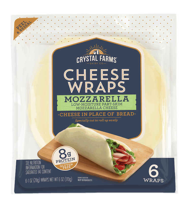 $1.00 for Crystal Farms Cheese Wraps (expiring on Monday, 02/08/2021). Offer available at multiple stores.
