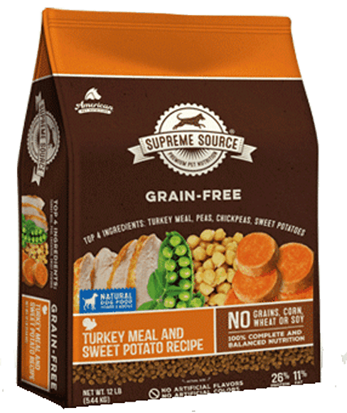 $3.50 for Supreme Source® Grain-Free Dog Food (expiring on Wednesday, 09/27/2017). Offer available at multiple stores.
