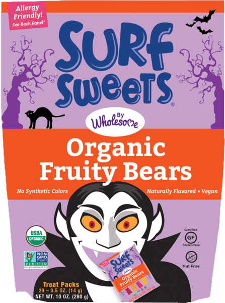 $1.00 for Surf Sweets by Wholesome!® Trick or Treat Pack. Offer available at multiple stores.