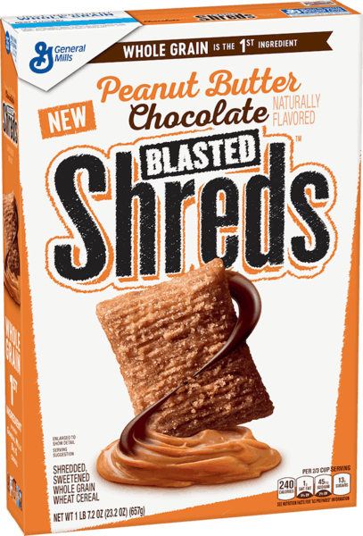 $0.50 for Peanut Butter Chocolate Blasted Shreds™ (expiring on Sunday, 06/02/2019). Offer available at Publix.