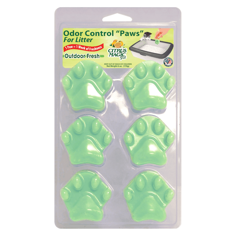 $1.00 for Citrus Magic Odor Control Paws for Litter (expiring on Friday, 04/30/2021). Offer available at Walmart, Walmart Grocery.