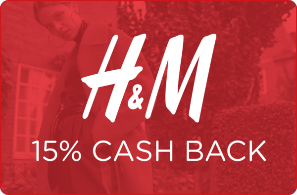 $0.00 for 15% cash back at H&M (expiring on Thursday, 11/02/2017). Offer available at H&M.