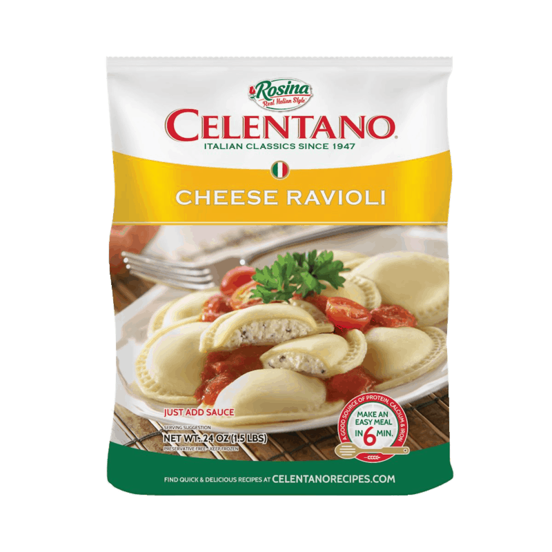$1.00 for Celentano Frozen Pasta. Offer available at multiple stores.