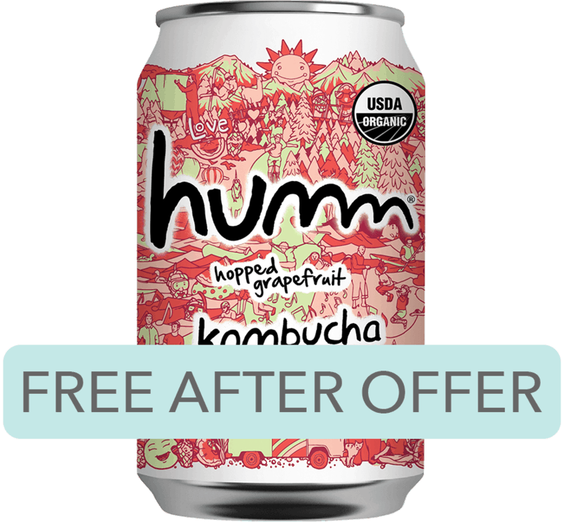 $1.98 for Humm® Kombucha (expiring on Thursday, 01/02/2020). Offer available at Walmart.