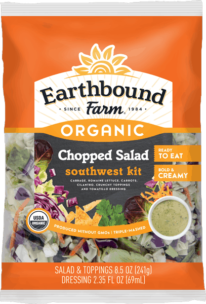 $0.75 for Earthbound Farm® Organic Chopped Salad Kit (expiring on Wednesday, 01/31/2018). Offer available at Meijer, ShopRite.