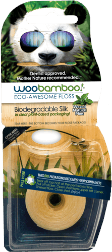 $1.00 for WooBamboo!® Eco-Awesome Floss (expiring on Saturday, 02/02/2019). Offer available at multiple stores.