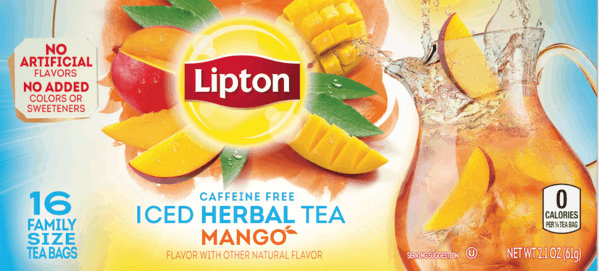 $1.00 for Lipton® Iced Herbal Tea - Mango. Offer available at Walmart.