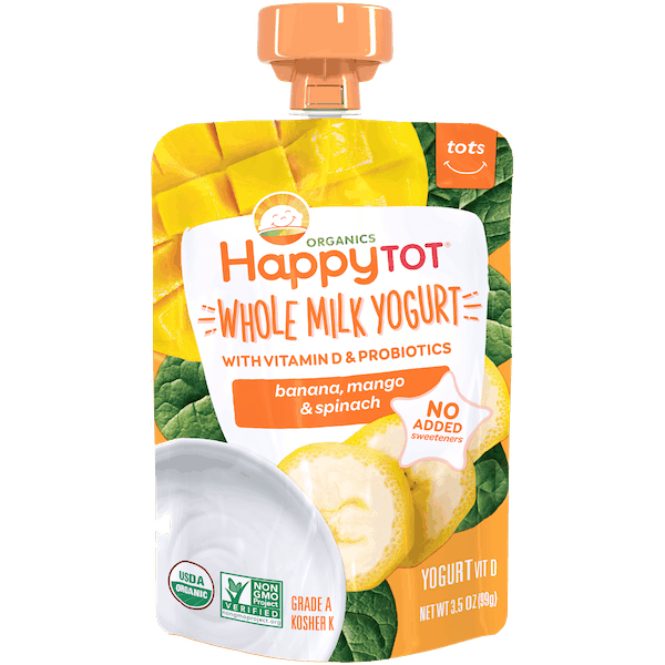 $1.00 for HappyTot® Yogurt Pouch (expiring on Monday, 10/08/2018). Offer available at Walmart.