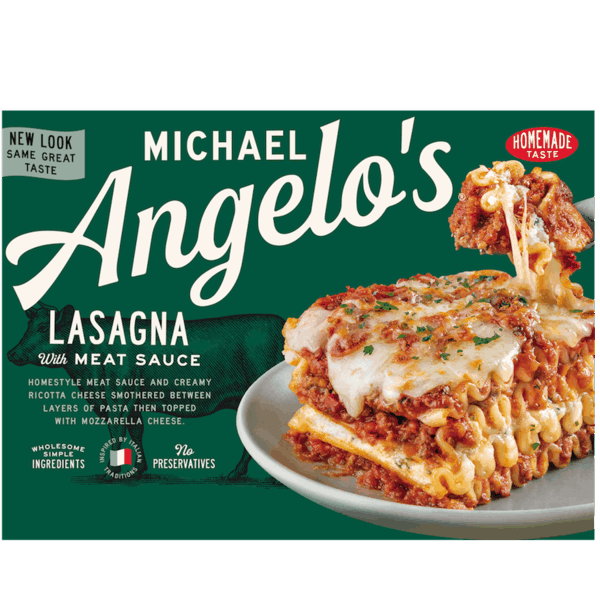 $0.50 for Michael Angelo's® Frozen Meals (expiring on Sunday, 09/02/2018). Offer available at Walmart.