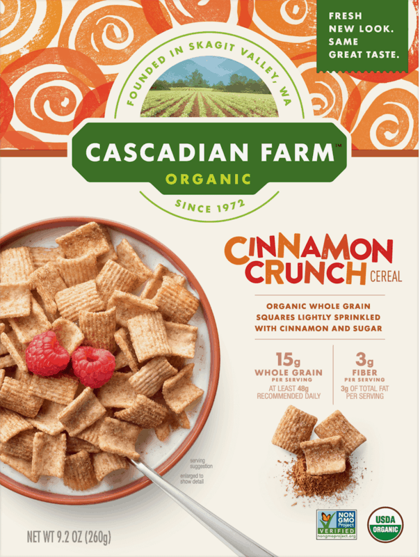 $0.50 for Cascadian Farm™ Cereal. Offer available at Walmart.