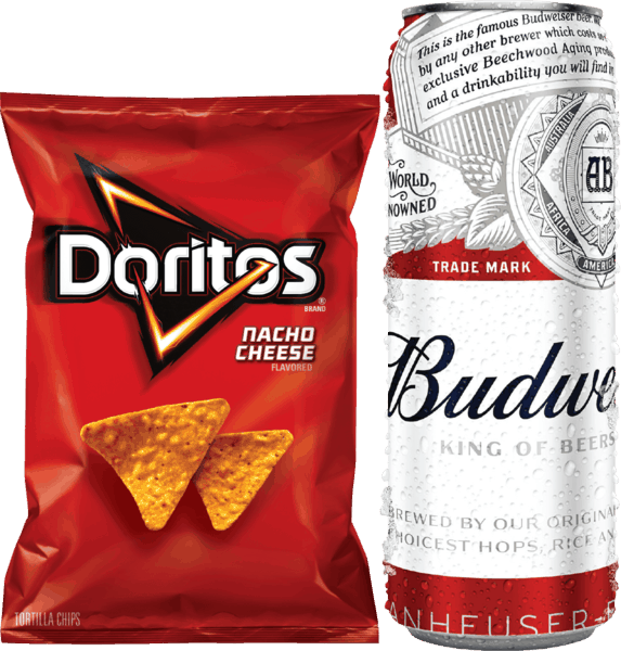 $0.75 for Bud Light® OR Budweiser® AND Frito Lay® Snacks (expiring on Monday, 07/09/2018). Offer available at multiple stores.