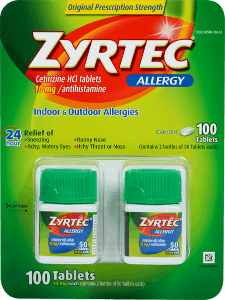 $2.00 for Zyrtec® Allergy Relief. Offer available at Boxed.
