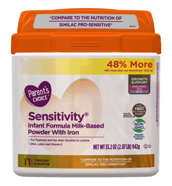 $3.00 for Parent's Choice™ Sensitivity® Formula (expiring on Saturday, 08/24/2019). Offer available at Walmart.