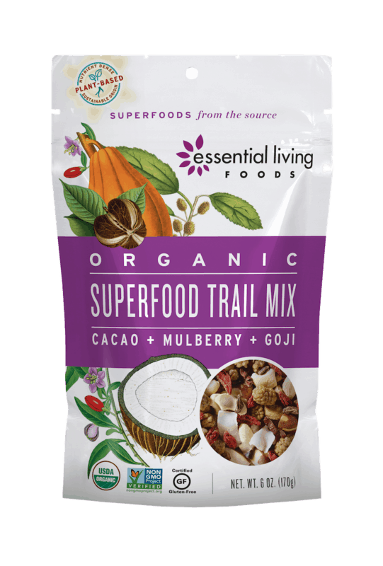 $1.00 for Essential Living Foods Trail Mix (expiring on Saturday, 10/31/2020). Offer available at multiple stores.