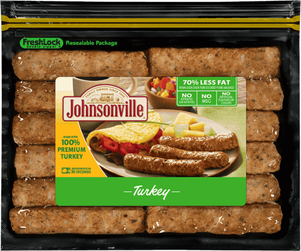 $0.50 for Johnsonville® Fully Cooked Breakfast Sausage. Offer available at multiple stores.