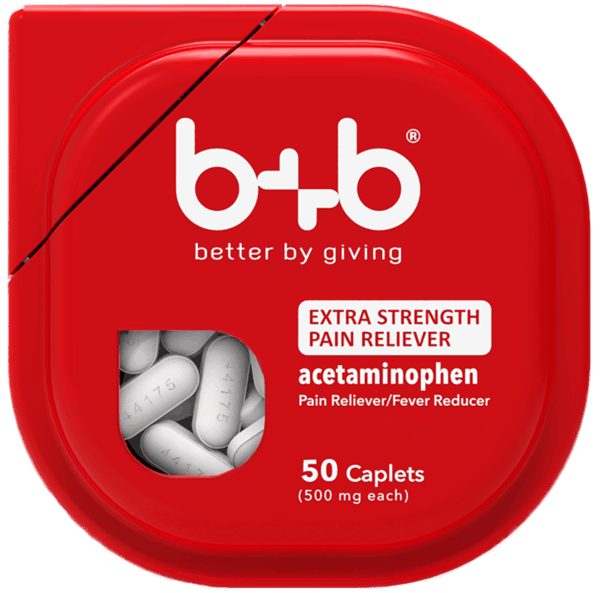 $2.00 for b+b® Extra Strength Acetaminophen (expiring on Monday, 07/02/2018). Offer available at Walmart.