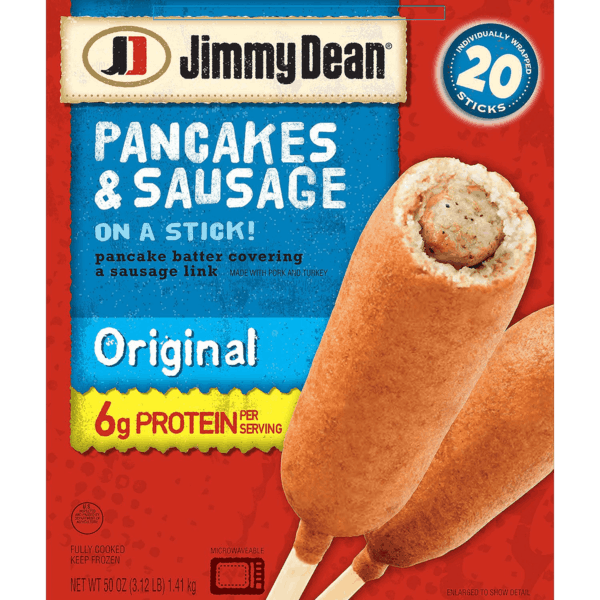 $2.00 for Jimmy Dean® Pancakes & Sausage on a Stick. Offer available at Sam's Club.