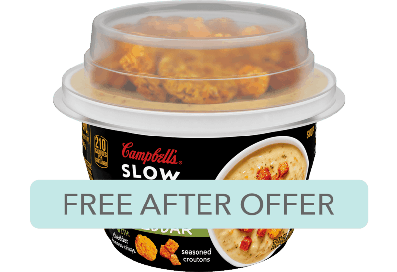 $1.98 for Campbell's® Slow Kettle® Soup (expiring on Monday, 12/09/2019). Offer available at Walmart.