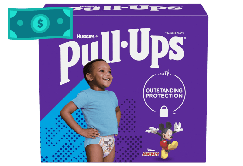 $2.50 for Huggies Pull-Ups. Offer available at multiple stores.