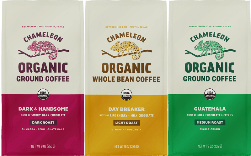 $2.00 for Chameleon Organic Bagged Coffee (expiring on Monday, 01/31/2022). Offer available at multiple stores.