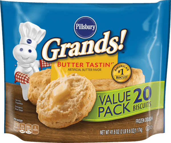 $0.50 for Pillsbury® Grands!™ Frozen Biscuits (expiring on Monday, 04/02/2018). Offer available at Walmart.
