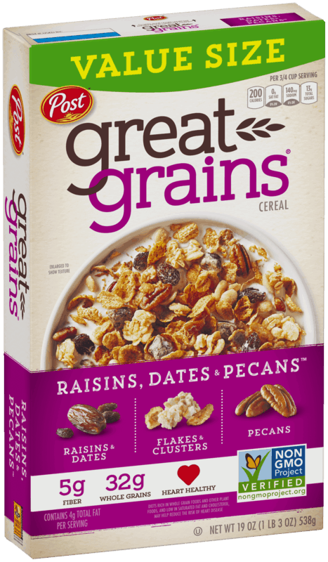 $0.50 for Post Great Grains (expiring on Sunday, 08/02/2020). Offer available at Walmart.