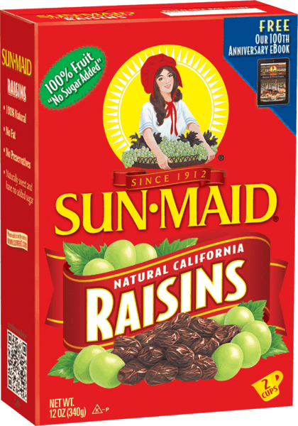 $2.00 for Sun-Maid® Raisins. Offer available at multiple stores.