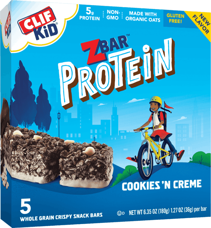 $1.00 for CLIF KID Zbar Protein Cookies 'n Crème (expiring on Saturday, 02/06/2021). Offer available at multiple stores.