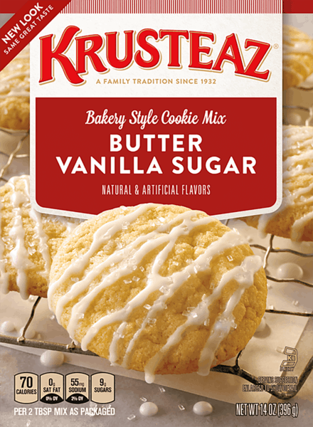 $0.50 for Krusteaz® Cookie Mix. Offer available at multiple stores.