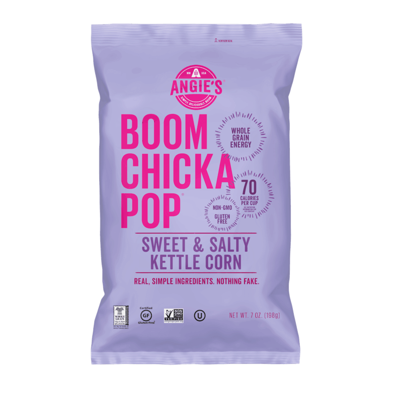 $0.25 for Angie's® BOOMCHICKAPOP Bagged Popcorn. Offer available at Walmart.