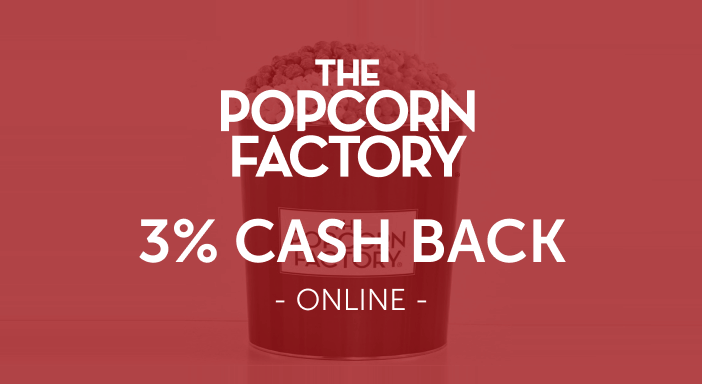 $0.00 for Popcorn Factory (expiring on Friday, 10/31/2025). Offer available at The Popcorn Factory.