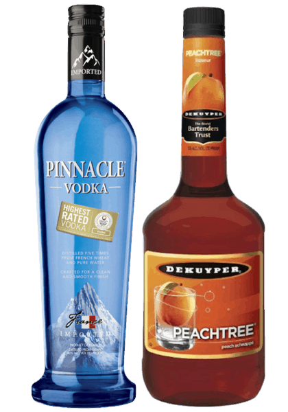 $10.00 for Pinnacle® Vodka and DeKuyper® (expiring on Sunday, 12/31/2017). Offer available at multiple stores.
