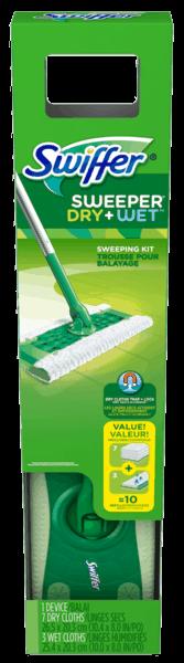 $0.50 for Swiffer® Sweeper® Starter Kit (expiring on Thursday, 08/02/2018). Offer available at Walmart.