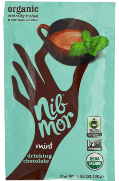 $0.50 for NibMor® Organic Drinking Chocolate (expiring on Monday, 12/25/2017). Offer available at multiple stores.