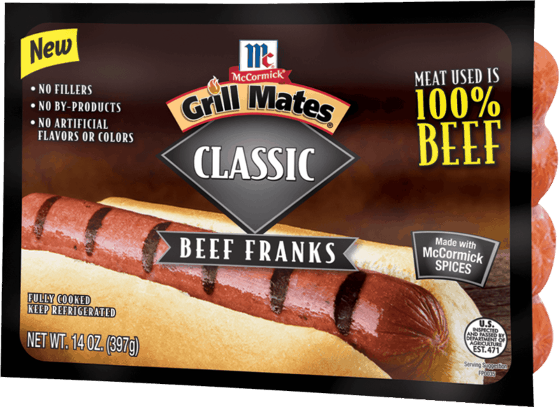 $0.50 for McCormick Grill Mates 100% Beef Franks (expiring on Friday, 05/01/2020). Offer available at multiple stores.