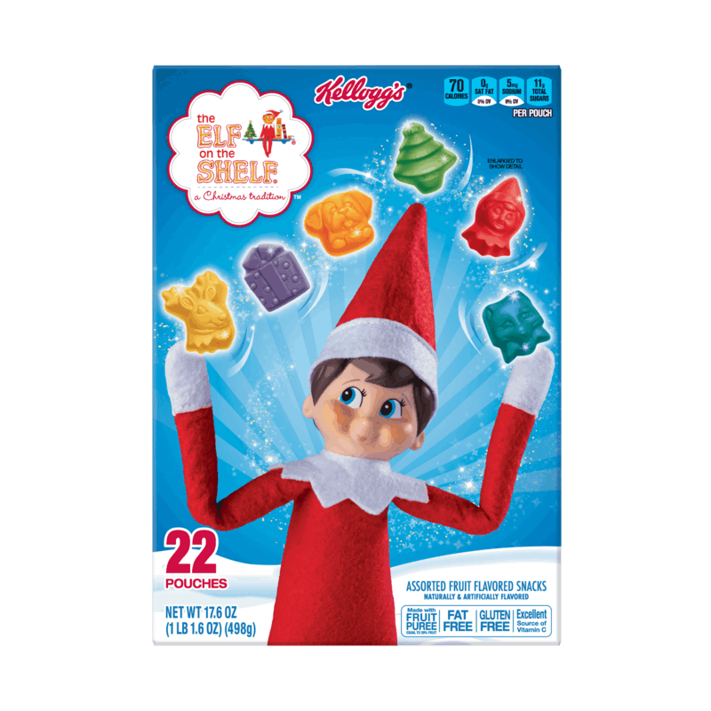 $0.25 for Kellogg's Elf on the Shelf Fruit Snacks (expiring on Tuesday, 06/02/2020). Offer available at Target, Kroger.