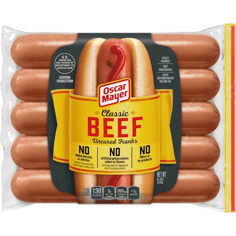$0.75 for Oscar Mayer Beef Wieners or Franks (expiring on Monday, 05/31/2021). Offer available at Target, Target Online.