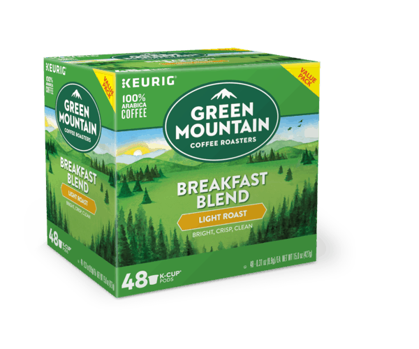 $2.00 for Green Mountain Coffee Roasters® Breakfast Blend Coffee K-Cup® pods (expiring on Sunday, 09/30/2018). Offer available at Walmart.