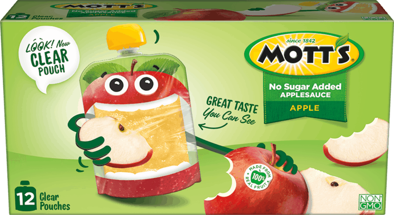 $1.00 for Mott's® Clear Applesauce Pouches (expiring on Wednesday, 03/11/2020). Offer available at multiple stores.