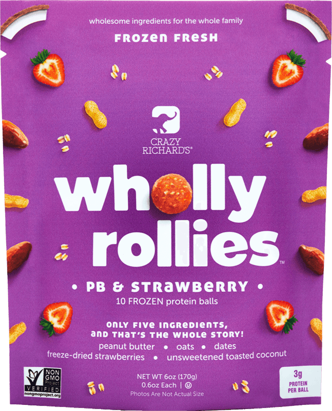$1.00 for Crazy Richards Wholly Rollies (expiring on Saturday, 01/30/2021). Offer available at Walmart, Walmart Grocery.