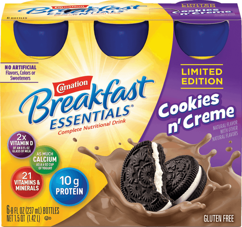$0.75 for Carnation Breakfast Essentials® Nutritional Products Ready-To-Drink (expiring on Sunday, 02/02/2020). Offer available at Walmart.