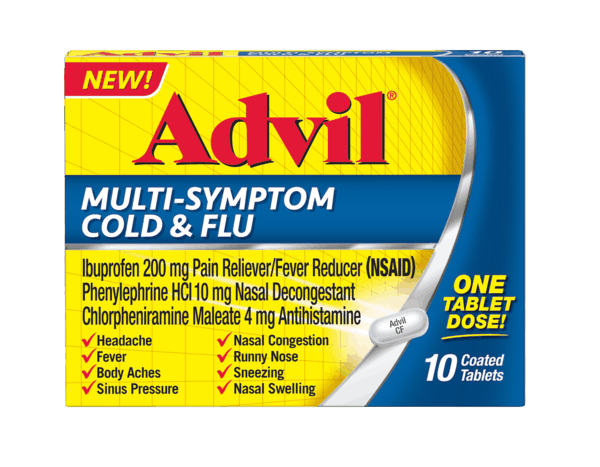 $2.00 for Advil Multi Symptom Cold and Flu. Offer available at multiple stores.