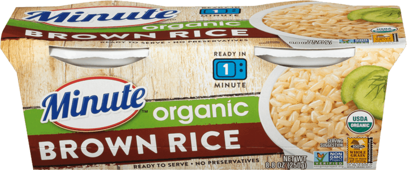 $0.75 for Minute Organic Ready to Serve Rice (expiring on Sunday, 08/02/2020). Offer available at Publix.