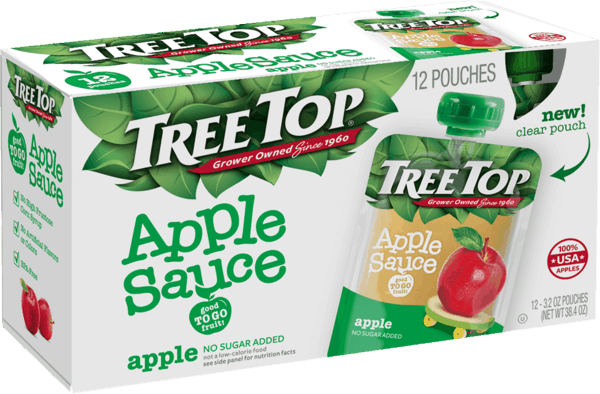 $1.50 for Tree Top® Apple Sauce Pouches 12-pack (expiring on Sunday, 09/02/2018). Offer available at multiple stores.